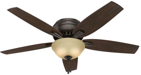 "Casablanca 53314 Newsome Collection - 52"" Premier Bronze Low Profile Bowl Light Kit 53314 FAN"