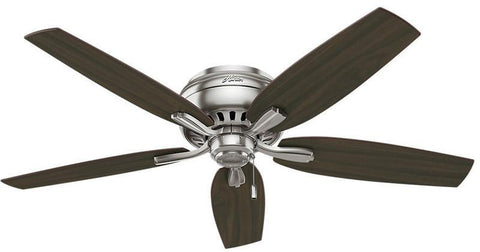 "Casablanca 53315 Newsome Collection - 52"" Brushed Nickel Low Profile Bowl Light Kit 53315 FAN"