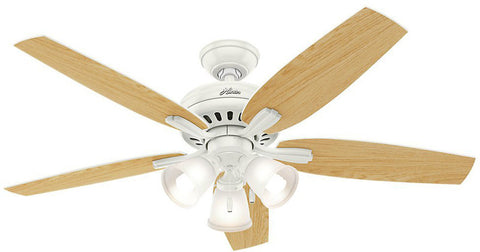 "Casablanca 53316 Newsome Collection - 52"" Fresh White Three Light Kit 53316 FAN"