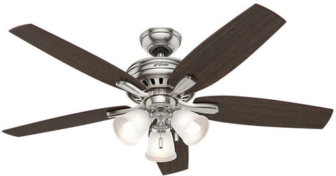 "Casablanca 53318 Newsome Collection - 52"" Brushed Nickel Three Light Kit 53318 FAN"