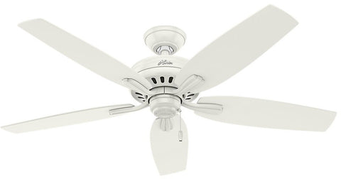 "Casablanca 53322 Newsome Collection - 52"" Fresh White No Light Kit ETL Damp 53322 FAN"