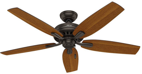 "Casablanca 53323 Newsome Collection - 52"" Premier Bronze No Light Kit ETL Damp 53323 FAN"