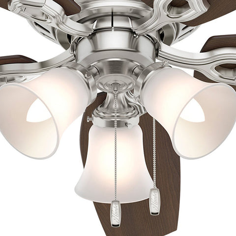 "Casablanca 53328 Builder Low Profile - 52"" Brushed Nickel Three Light 53328 FAN"