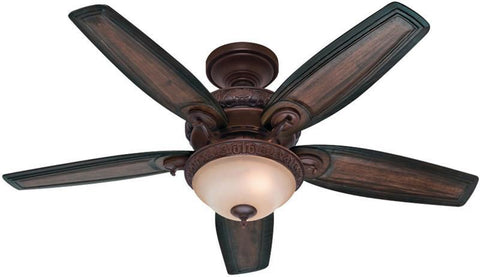 "Casablanca 54014 Claymore-54"" Brushed Cocoa Bowl Light Kit 54014 FAN"