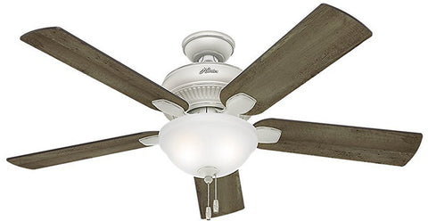 "Casablanca 54091 Matheston-52"" Cottage White Bowl Light Kit ETL Damp 54091 FAN"