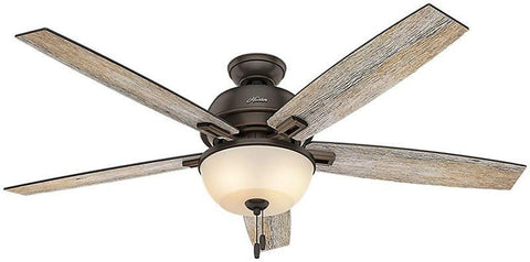 "Casablanca 54170 Donegan Collection - 60"" Onyx Bengal Bowl Light Kit 54170 FAN"