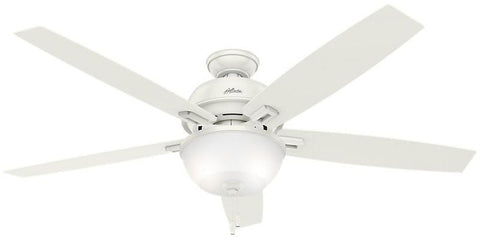 "Casablanca 54171 Donegan Collection - 60"" Fresh White Bowl Light Kit 54171 FAN"