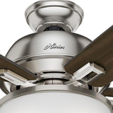 "Casablanca 54172 Donegan Collection - 60"" Brushed Nickel Bowl Light Kit 54172 FAN"