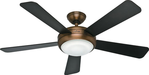 "Casablanca 59053 Palermo™ - 52"" Brushed Bronze Integrated Light Kit 59053 FAN"