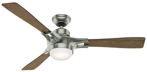 "Casablanca 59224 Signal - 54"" Satin Nickel 59224 FAN"