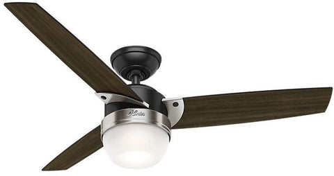 "Casablanca 59228 Flare - 48"" Matte Black + Brushed Nickel 59228 FAN"