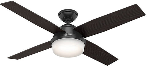 "Casablanca 59251 Dempsey Collection - 52"" Brushed Nickel Integrated Light Kit ETL Damp 59251 FAN"