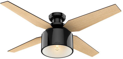 "Casablanca 59259 Cranbrook Collection - 52"" Gloss Black Low Profile 59259 FAN"