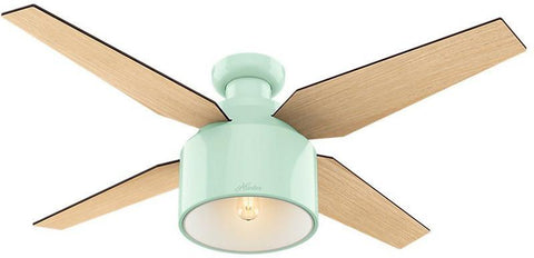 "Casablanca 59260 Cranbrook Collection - 52"" Mint Green Low Profile 59260 FAN"