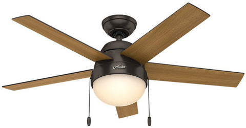 "Casablanca 59265 Anslee Collection - 46"" Premier Bronze Integrated Light Kit 59265 FAN"