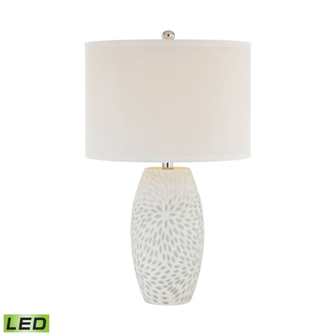 Lamp Works LAM-D2910-LED Farrah Collection White Finish Table Lamp