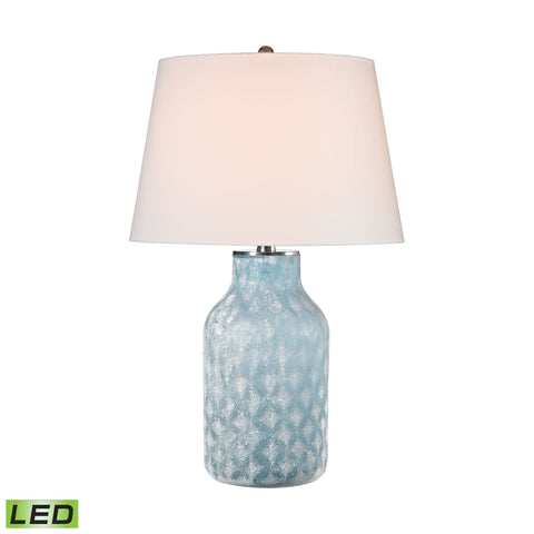 Lamp Works LAM-D2922-LED Sophie Collection Santa Monica Blue Finish Table Lamp