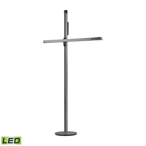 Alico FL125-31-31 Bilico Collection Anodized Blue-Grey Finish Floor Lamp