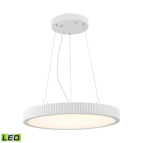 Alico LC603-10-30 Digby Collection Matte White Finish Pendant