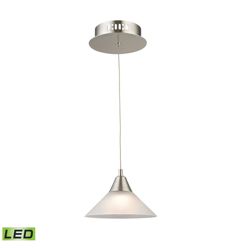 Alico LCA101-10-16M Cono Collection Satin Nickel Finish Pendant