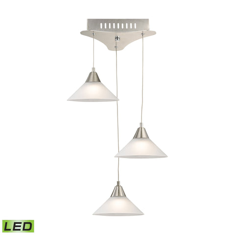 Alico LCA103-10-16M Cono Collection Satin Nickel Finish Pendant