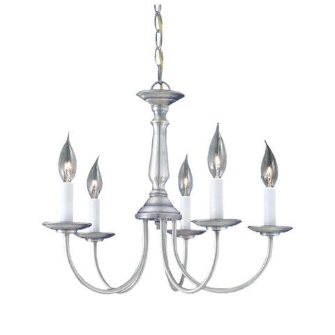 Thomas Lighting SL800378 Essentials Collection Brushed Nickel Finish Traditional Chandelier