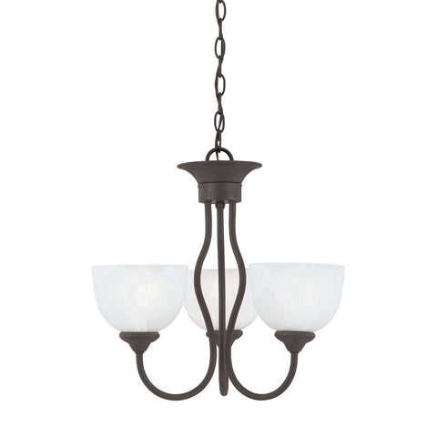 Thomas Lighting SL801463 Tahoe Collection Painted Bronze Finish Traditional Chandelier