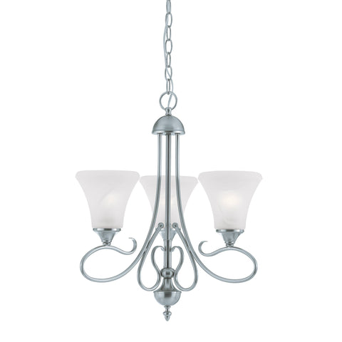 Thomas Lighting SL811378 Elipse Collection Brushed Nickel Finish Transitional Chandelier