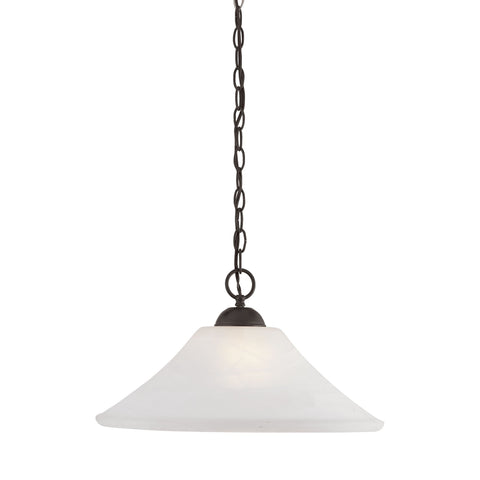 Thomas Lighting SL820063 Elipse Collection Painted Bronze Finish Transitional Pendant