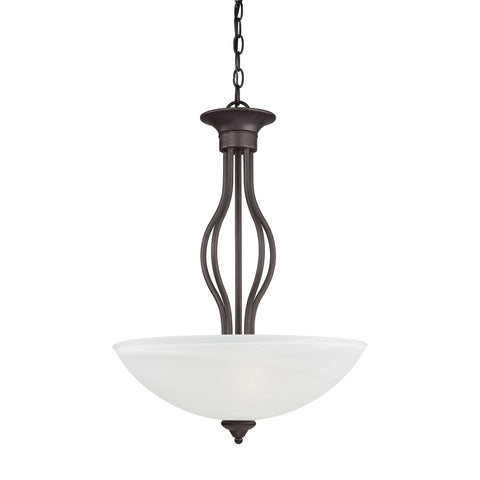 Thomas Lighting SL823663 Tahoe Collection Painted Bronze Finish Traditional Pendant