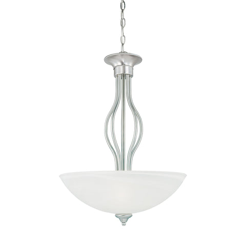 Thomas Lighting SL823678 Tahoe Collection Brushed Nickel Finish Traditional Pendant