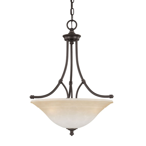 Thomas Lighting SL824662 Harmony Collection Aged Bronze Finish Traditional Pendant