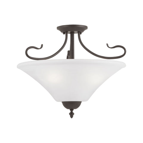 Thomas Lighting SL825363 Elipse Collection Painted Bronze Finish Transitional Pendant