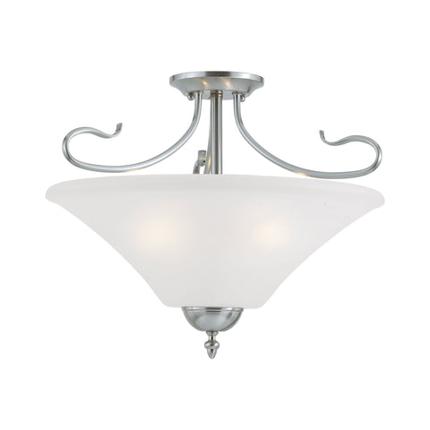 Thomas Lighting SL825378 Elipse Collection Brushed Nickel Finish Transitional Pendant