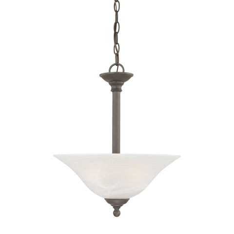 Thomas Lighting SL826663 Riva Collection Painted Bronze Finish Traditional Pendant