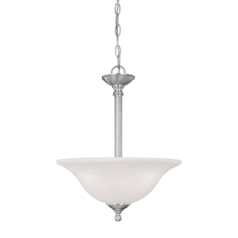 Thomas Lighting SL826678 Riva Collection Brushed Nickel Finish Traditional Pendant