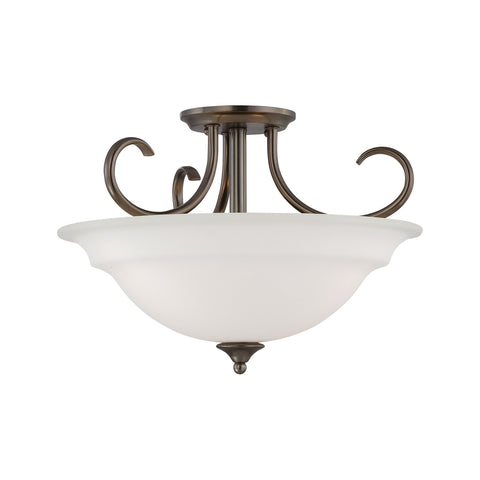 Thomas Lighting SL860715 Bella Collection Oiled Bronze Finish Traditional Pendant