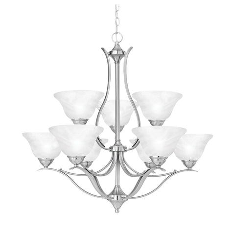 Thomas Lighting SL863978 Prestige Collection Brushed Nickel Finish Transitional Chandelier