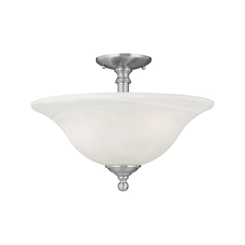 Thomas Lighting SL869678 Riva Collection Brushed Nickel Finish Traditional Flush