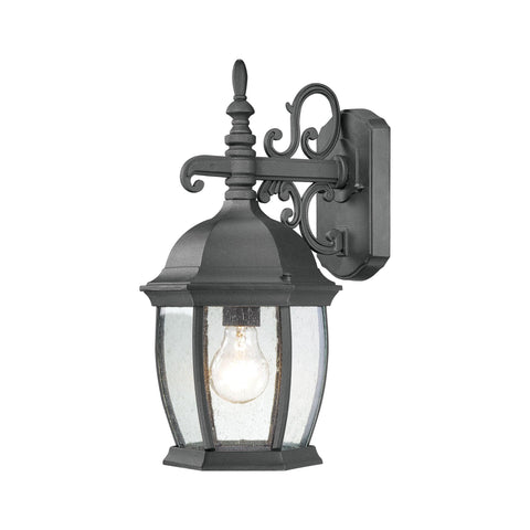 Thomas Lighting SL92287 Covington Collection Black Finish Traditional Wall Sconce