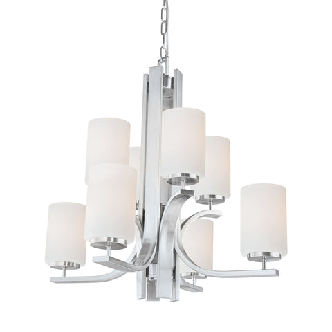 Thomas Lighting TK0008217 Pendenza Collection Brushed Nickel Finish Transitional Chandelier