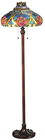 "Meyda Tiffany 138109 60""H Dragonfly Rose Floor Lamp - PeazzLighting"