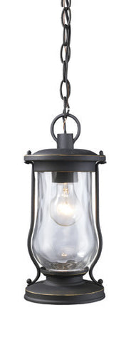 ELK Lighting 43017-1 Farmstead One Light Outdoor Pendant In Matte Black - PeazzLighting