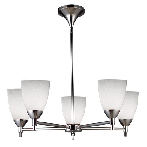 ELK Lighting Celina Celina 5-Light Chandelier In Polished Chrome And Simple White Glass - 10155/5PC-WH - PeazzLighting