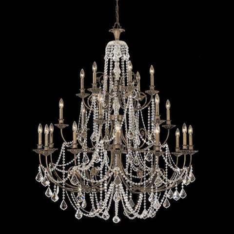 Crystorama Clear Swarovski Spectra Crystal Wrought Iron Chandelier 12 Lights - English Bronze - 5120-EB-CL-SAQ - PeazzLighting