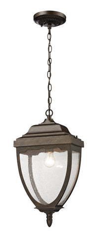 ELK Lighting Brantley Place 1- Light Outdoor Pendant In Hazelnut Bronze - 27012/1 - PeazzLighting