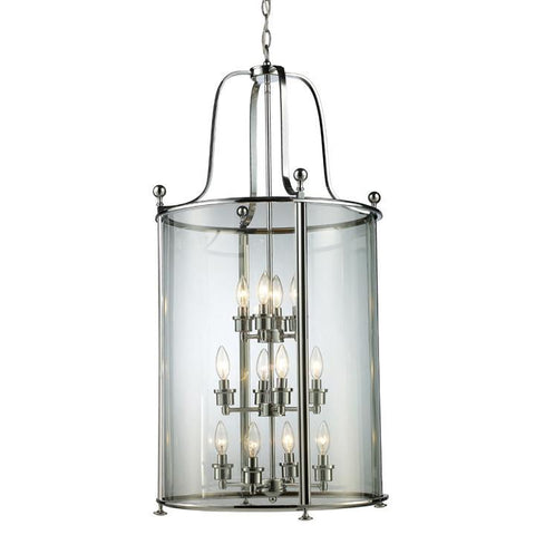 Z-Lite Wyndham Collection Brushed Nickel Finish 12 Light Pendant - ZLiteStore