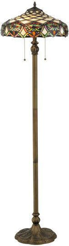 "Meyda Tiffany 119598 60""H Franco Floor Lamp - PeazzLighting"
