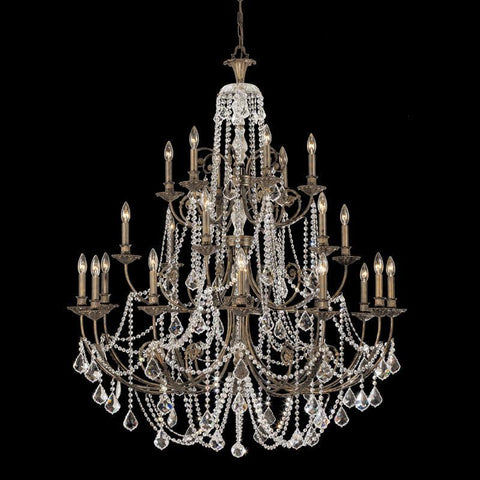 Crystorama Clear Hand Cut Crystal Wrought Iron Chandelier 12 Lights - English Bronze - 5120-EB-CL-MWP - PeazzLighting