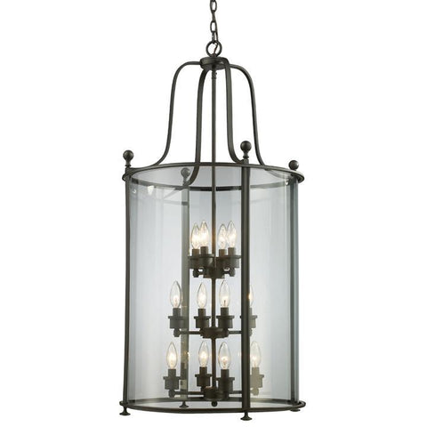 Z-Lite Wyndham Collection Bronze Finish 12 Light Pendant - ZLiteStore